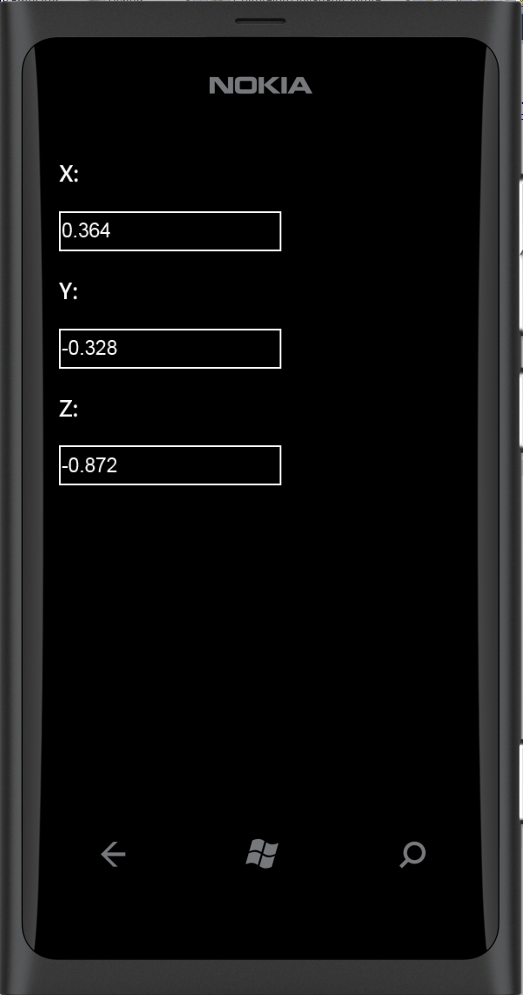 Accessing the Accelerometer from HTML5 and Javascript with Windows Phone 7